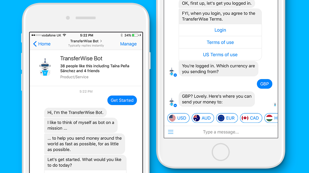 Introducing: TransferWise Bot for Facebook Messenger