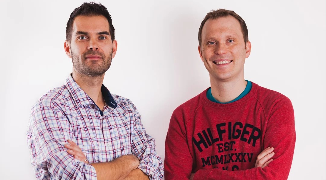 Cofounders Tuukka Koskinen (right) and Mattias Hansson