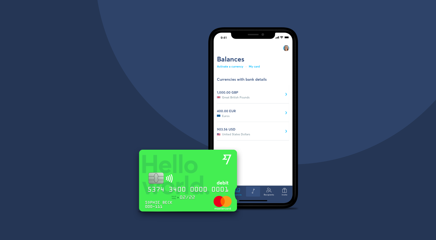 transferwise borderless card<br/>